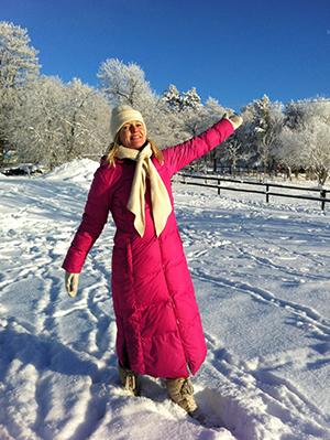Agneta Larsson - vinterbild vid Kilmaninstitutet