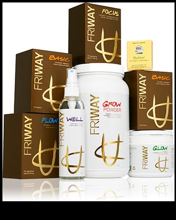 FRIWAYs livstillskott®, stärker kroppen och får den att kommunicera och arbeta på bästa möjliga sätt